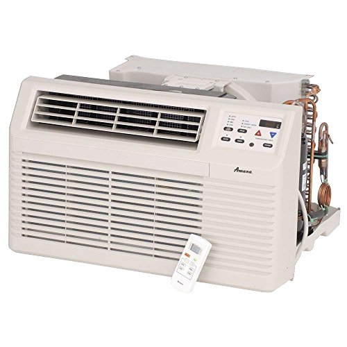 Amana PBC092G00CB 9 200 BTU Through-the-Wall Air Conditioner with Electronic Touchpad Remote Control with LCD Display 2-Fan Speeds Energy Saver Option 4-Way Adjustable Airflow and Slide-out