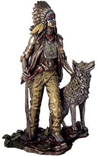 Amazon Com Native American Navajo Indian On Horse W Eagle Statue