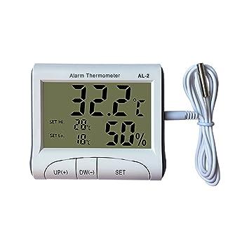 terowa electrónico alarma termómetro higrómetro para interiores humidometer Weather comprobador de temperatura termostato