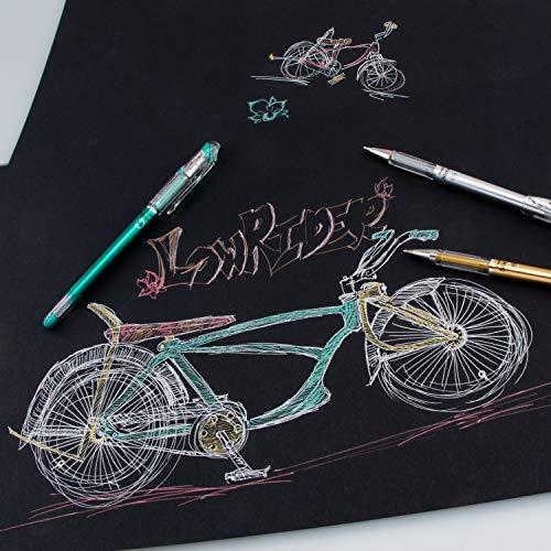 Pentel Arts Slicci Metallic 0.8 mm Needle Tip Gel Pen, Metallic Pink Ink, 1 Pack (BG208BPMP)