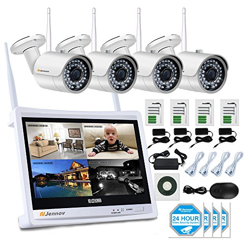 Jennov 4 Channel CCTV Wireless WiFi IP Security Camera System 12