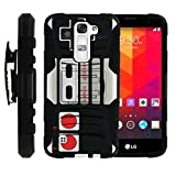 Cheap MINITURTLE Case Compatible w/ LG K7 Case | Tribute 5 Holster Case| LG Treasure Case [Clip Armor] Premium Heavy Duty Shooproof Case w/ Stand and Holster Game Controller