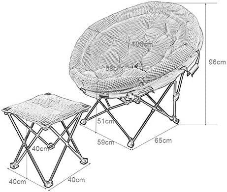 YLYAB Folding Moon Chair Saucer Padded Comfort Lounge Bedroom Garden Furniture Leisure Camping Chair