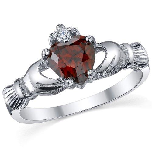 metal-masters-cor-sterling-silver-925-irish-claddagh-friendship-love-red-garnet-heart-cz-ring-sizes-