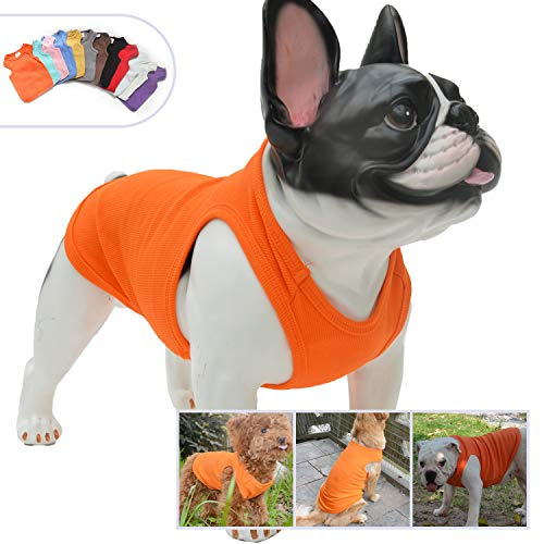 34d185e0e3c8 Lovelonglong 2019 Summer Pet Clothing, Dog Clothes Blank T-Shirts Ribbed  Tanks Top Thread
