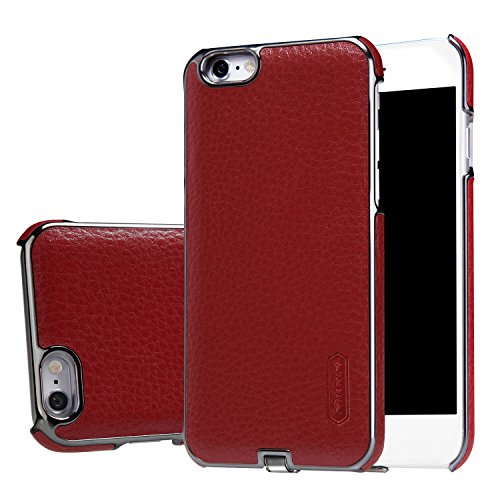 Wireless Charging Receiver Phone Case for iPhone 6 (4.7 inch), Leather, PANTHEON Qi Receiver Case / Back Case Cover - Red