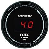 Auto Meter 6363 Sport Comp Digital 2-1/16'' 0-100 PSI Digital Fuel Pressure Gauge
