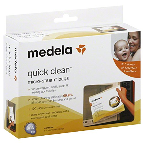 Medela Quick Clean Micro-Steam Bags, 5 Count (Medela Bags For Microwave compare prices)