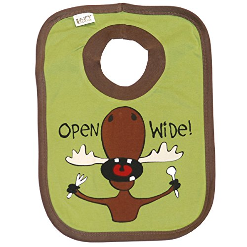 Wide Moose (Open Wide- Green Moose Infant Bib by Lazy One)