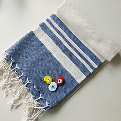 Travel Towel Bamboo: Secret Sea Collection Lightweight Turkish Peshtemal Towel