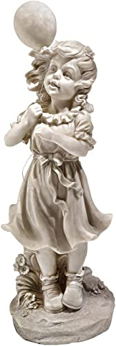Design Toscano SH381029 Jessie and Her Balloon Statue,antique stone
