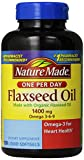 Nature Made Organic Flaxseed Oil 1400 mg 700mg Omega 3 100 Liquid Softgels