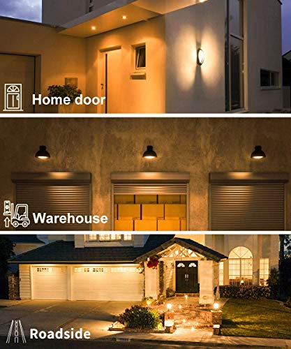 Govee Dusk to Dawn Light Bulb, 9W (70 Watt Equivalent) 800lm Smart Sensor LED Light Bulb, E26/E27 Automatic On/Off, Indoor/Outdoor Lighting Bulb for Porch Hallway Garage (Warm White, 2 Packs)