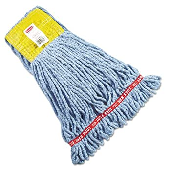 Rubbermaid® Commercial Web Foot® Shrinkless® Wet Mop RCP A251 BLU