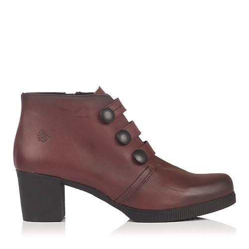 3356183bffb YOKONO DANNA-011 Botin Piel Tacon Mujer Burdeos 41  Amazon.es  Zapatos y  complementos