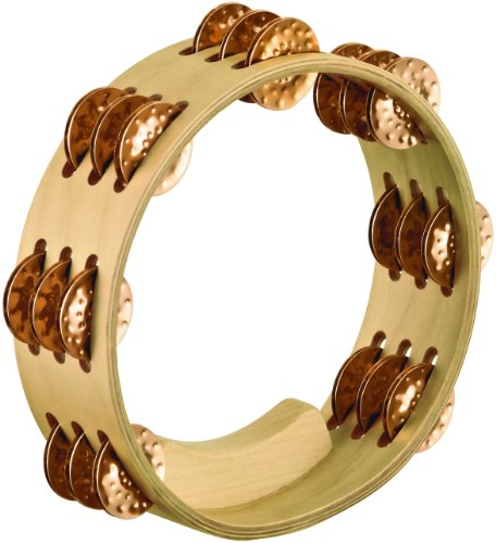 - Meinl Percussion AE-CMTA3BO Artisan Compact 8-Inch Maple Tambourine with 3 Rows of Hammered Bronze Jingles