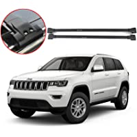 LSAILON Black Roof Rack Rail Cross Bars Fit For 2017-2018 Jeep Compass
