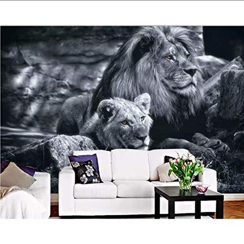 zyzdsd Personalizado en blanco y negro, doble león TV Fondo ...