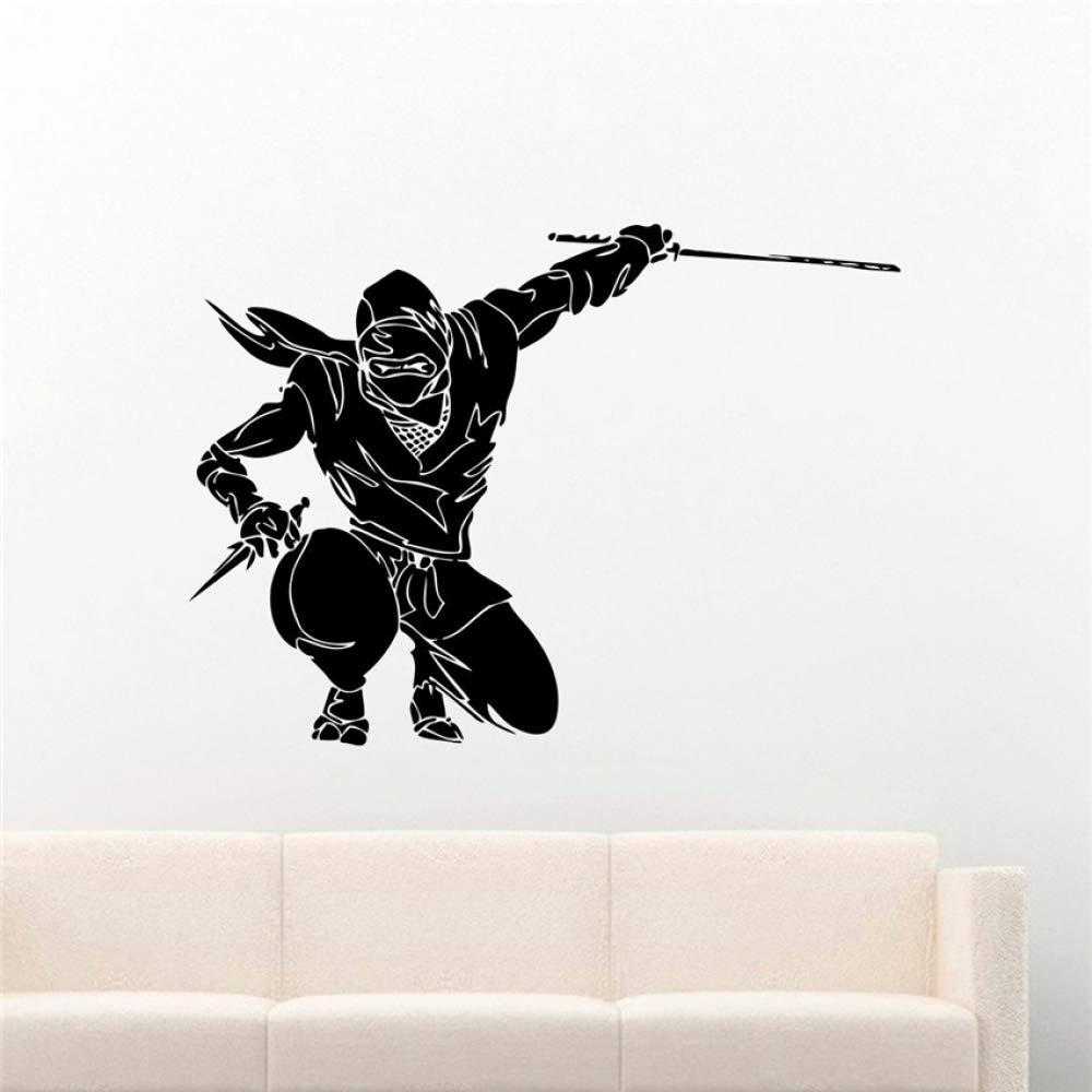 jiuyaomai Tatuajes de Pared Ninja Warrior Sticker Samurai ...