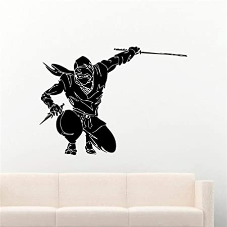 jiuyaomai Tatuajes de Pared Ninja Warrior Sticker Samurai ...