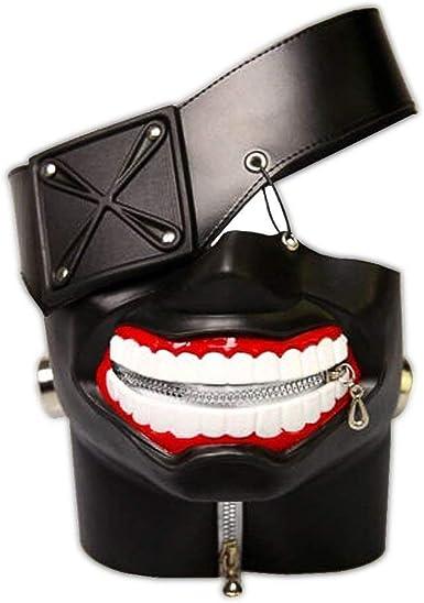PU Leather Black Ken Kaneki Cosplay Mask