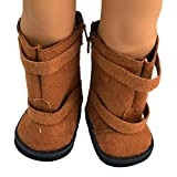 "Ebuddy ® Brown Doll Shoes Boots for 18"" American Girl Doll Clothes"
