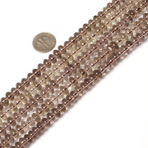 Smoky Quartz Rondelle Beads - 5