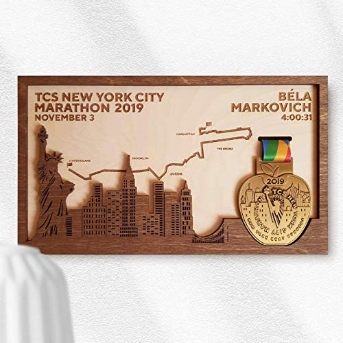 New York Marathon Medal Frame