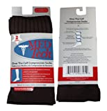 2 Pairs Med Tech Over the Calf Compression Socks Sock Size 10-13 Brown