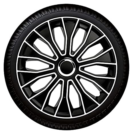 14 pulgadas tapacubos/Tapacubos Voltec Pro Black White 14 Blanco y Negro