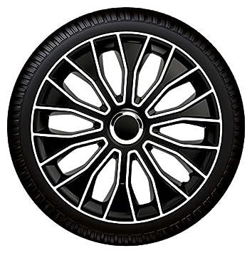 15 Pulgadas Tapacubos Tapacubos Voltec Pro Black White 15 Blanco y Negro