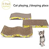 PAWZ Road Cat Scratching Post Cat Scratching Pad With Catnip 3 pack
