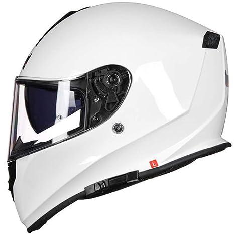 ZCRFY Cascos Integrales Motocicleta Motocross Seguridad De La Modulares Cascos Half-Helmet Deportivo Antiniebla con