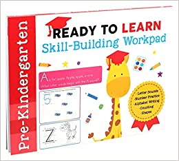 Ready To Learn Pre Kindergarten Skill Building Workpad Letter Sounds Number Practice Alphabet Writing Counting Shapes Editors Of Silver Dolphin Books 9781645173311 Amazon Com Books