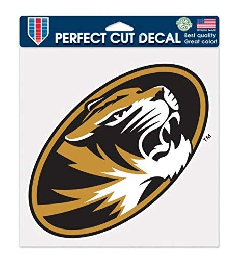 NCAA University of Missouri Tigers 8 x 8 inch Perfect Cut Color Decal Sticker