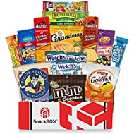Care Package for College Students (15 Count), Military, Easter, Finals, Birthday, Office Snacks and Back to School with Chips, Cookies and Candy From SnackBOX
