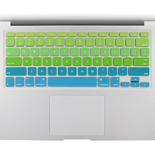 All-inside Green Blue Ombre Keyboard Skin for MacBook Pro 13 15 17 (with or without Retina Display) / MacBoook Air 13