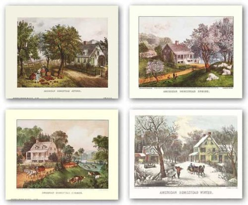 American Homestead Set by Currier & Ives 8.375