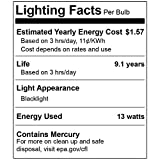 4 Pack BlueX CFL Blue Light Bulb 13W - 50-Watt