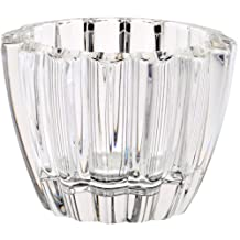 """Votive Candleholder, Chandelier, Candlestick """"OTTO"""", H=8,5 cm, Ø 11,5 cm, lead crystal, modern style (GERMAN CRYSTAL powered by CRISTALICA)"""