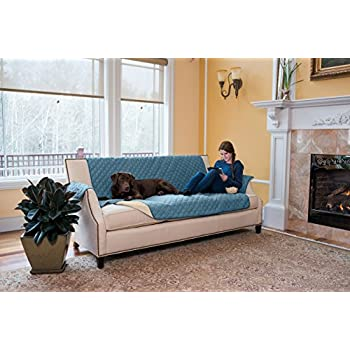 Amazoncom Lush Decor Geo Furniture Protector Sofa Navy Home