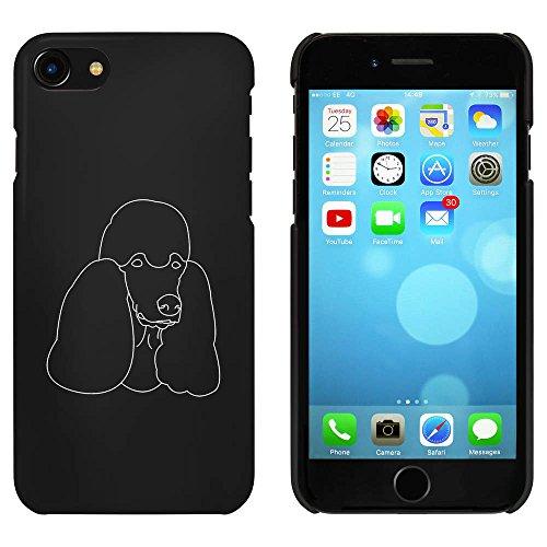 Noir 'Visage Caniche' étui / housse pour iPhone 7 (MC00058325)