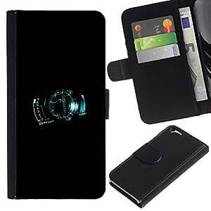 LECELL--Cuero de la tarjeta la carpeta del tirón Smartphone Slots Protección Holder For Apple Iphone 6 -- Velocímetro digital --