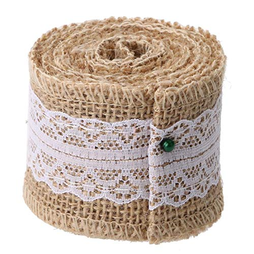 Supplies Party - 2meter Pcs Jute Burlap Rolls Hessian Ribbon With Lace Diy Rustic Wedding Decoration Ornament Favors - Paris Mexican George Sonic Wings Emoji Paw Teenager Boy Wars -