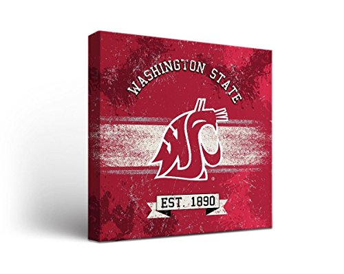 Victory Tailgate Washington State WSU Cougars Canvas Wall Art Banner Design (18x24)