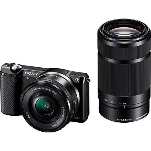 SONY α5000 ダブルズームレンズキット(ブラック/デジタル一眼)   B01MR8P5JV