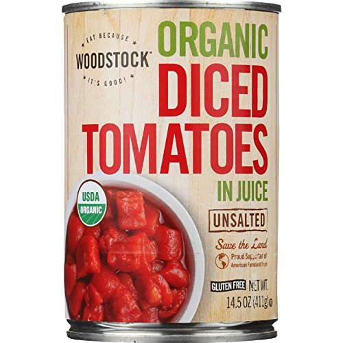 Woodstock - Organic Diced Tomatoes - Unsalted - 14.5 oz - case of 12 - 95%+ Organic - Vegan (Unsalted Canned Tomatoes compare prices)