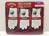 4 Wholesale Lots 3 Pack Callaway Cabretta Leather Golf Gloves Size Small, 12 Golf Gloves Total