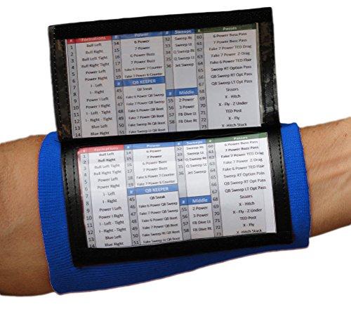 SteelLocker Sports X200 Adult Playbook Wristband - Royal (Football Wristband)