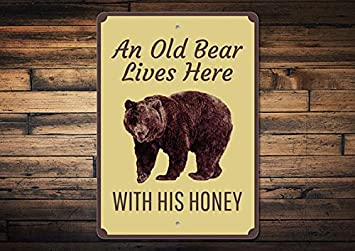 Amazonde Metalsign Bear Lover Funny Bear Schild Cute Bear Decor